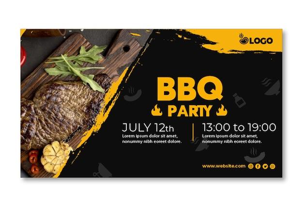 Bbq party banner vorlage