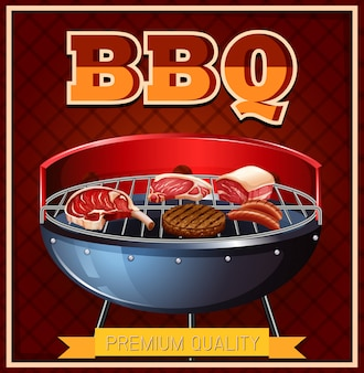 Bbq rindfleisch auf dem grill
