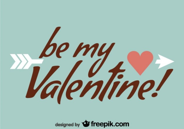 Be my valentine retro-design