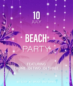 Beach-party-plakat