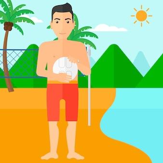 Beach-volleyball-spieler