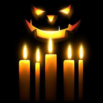 Beängstigende halloween-illustration