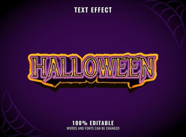 Beängstigender halloween-grunge-bearbeitbarer texteffekt