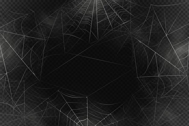 Beängstigender spinnennetzhintergrund