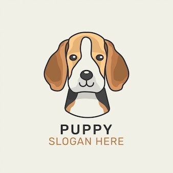 Beagle hund logo vorlage