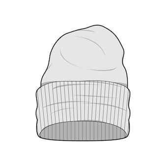 Beanie-mode-flache sketche-vektorschablone