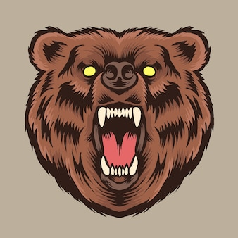 Bear head logo illustration