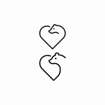 Bear love umriss logo