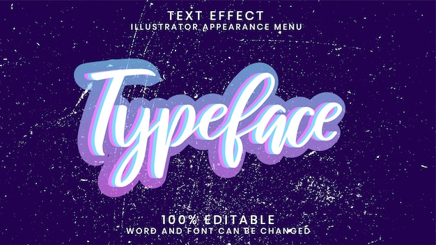 Bearbeitbare 3d-texteffekt-stilvorlage