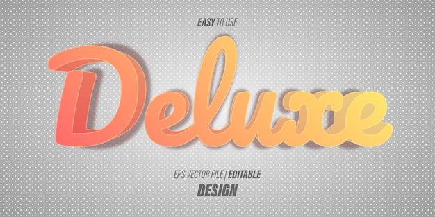 Bearbeitbare 3d-texteffekte mit skriptschriftarten und leuchtend orangefarbenen verlaufsfarben mit einem unterhaltsamen thema. Premium Vektoren