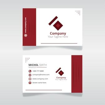 Bearbeitbare ausweisvorlage für organisation und mitarbeiter mit roter farbe