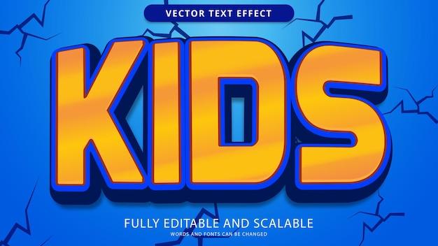 Bearbeitbare eps-datei mit texteffekt für kinder