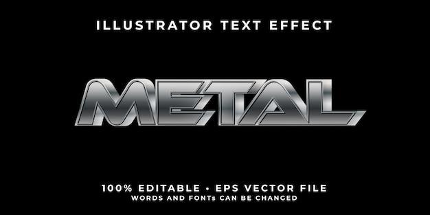 Bearbeitbare font-effektvorlage aus metall 3d