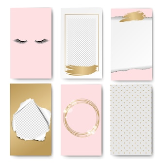 Bearbeitbare geschichten pink template