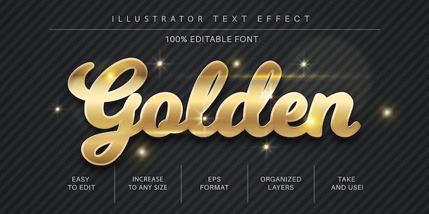 Bearbeitbare goldene textschrift