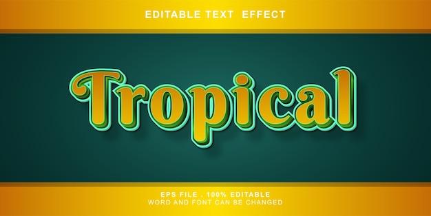 Bearbeitbare illustration des tropischen texteffekts