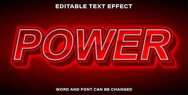 Bearbeitbare leistung im texteffektstil