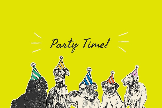 Bearbeitbare party-banner-vorlage, remixed aus kunstwerken von moriz jung