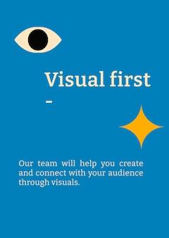 Bearbeitbare plakatvorlage vektor bauhaus inspiriertes flaches design