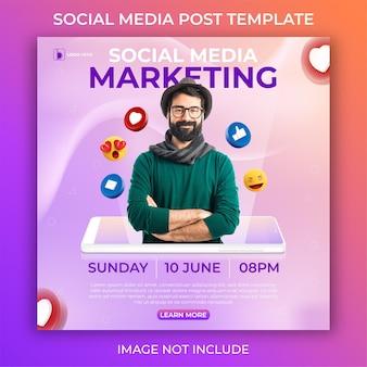 Bearbeitbare social-media-post-vorlage. marketing social media banner