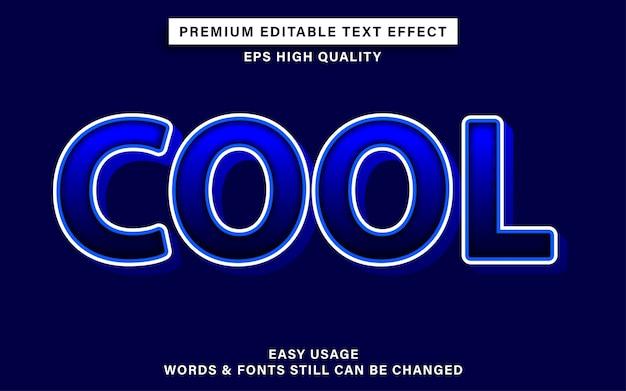 Bearbeitbare texteffekt kühle blaue farbe