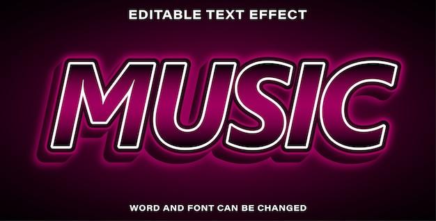 Bearbeitbare texteffekt lila musik
