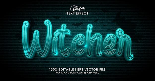 Bearbeitbare texteffekt-stilvorlage für hexer-text-horror