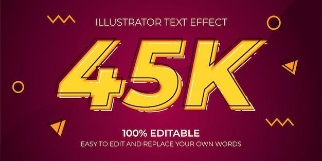 Bearbeitbare texteffekte - 45k-texteffekte