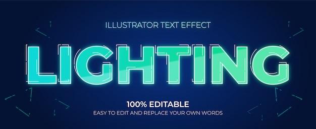 Bearbeitbare texteffekte - beleuchten von texteffekten