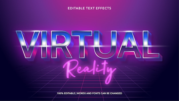 Bearbeitbare texteffekte der virtuellen realität
