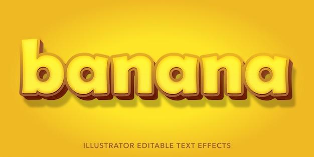 Bearbeitbare texteffekte für bananen