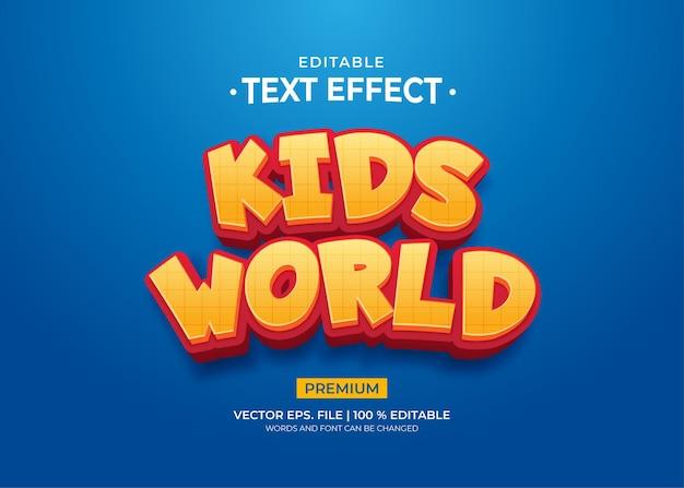 Bearbeitbare texteffekte für kids world