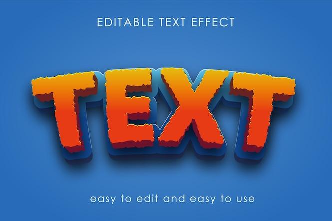 bearbeitbare texteffekte im 3d-stil