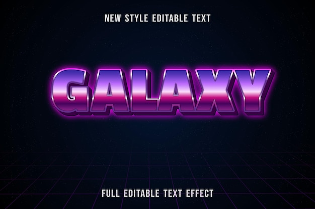 Bearbeitbare texteffektgalaxiefarbe rosa und lila