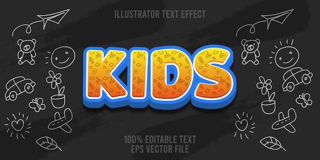 Bearbeitbare texteffektkinder