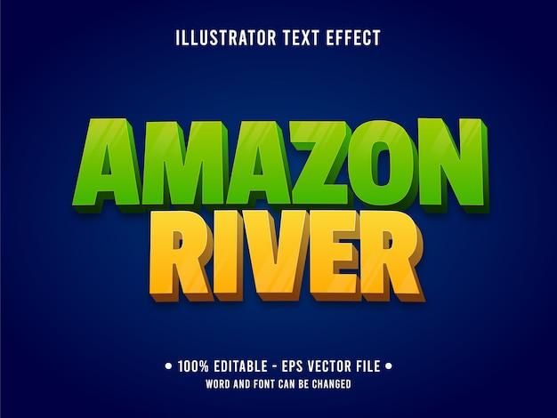 Bearbeitbare texteffektschablone des amazonasflusses