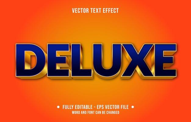 Bearbeitbare texteffektvorlage im blauen deluxe-stil