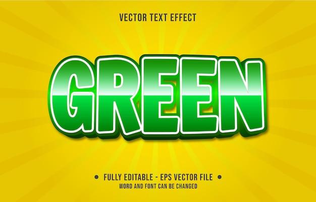 Bearbeitbare texteffektvorlagen grüner farbverlauf im modernen stil