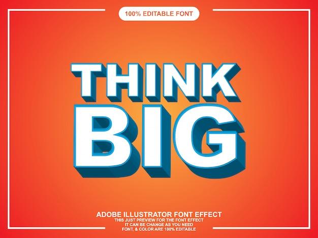 Bearbeitbare typografie des fetten modernen grafikstilillustrators