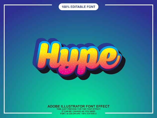 Bearbeitbare typografie des illustrationsspaßgrafik-stils