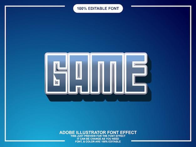 Bearbeitbare typografie des spielgrafik-illustrators