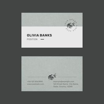Bearbeitbare visitenkartenvorlage im minimalistischen botanischen design