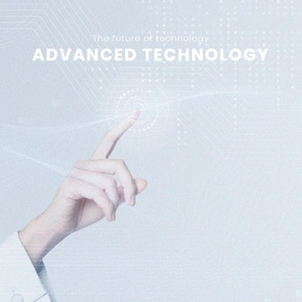 Bearbeitbare vorlage mit fortschrittlicher technologie für futuristische innovation für social-media-beiträge