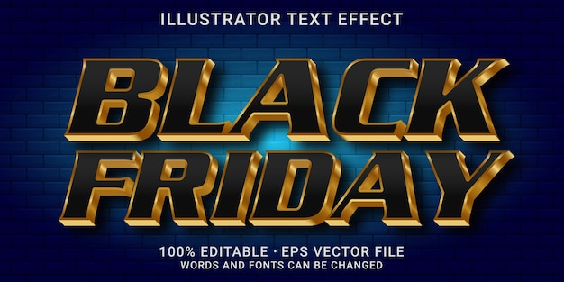 Bearbeitbarer 3d-texteffekt - black friday-stil