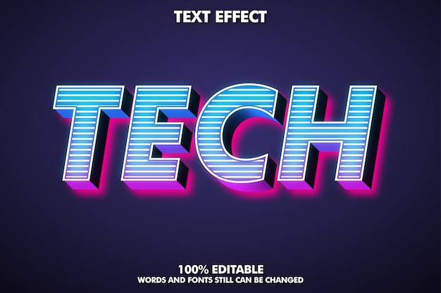 Bearbeitbarer 3d-texteffekt für modernes design