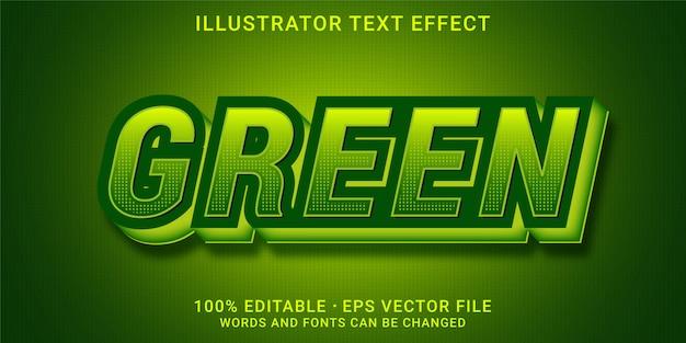 Bearbeitbarer 3d-texteffekt - grüner stil