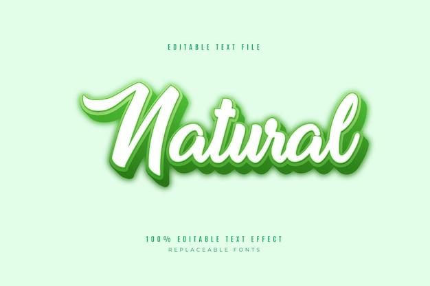 Bearbeitbarer 3d-texteffekt in der natur