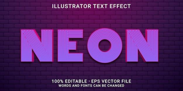 Bearbeitbarer 3d-texteffekt - neonstil