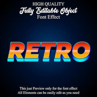 Bearbeitbarer bearbeitbarer schrifteffekt des retro-textstils der bunten 3d