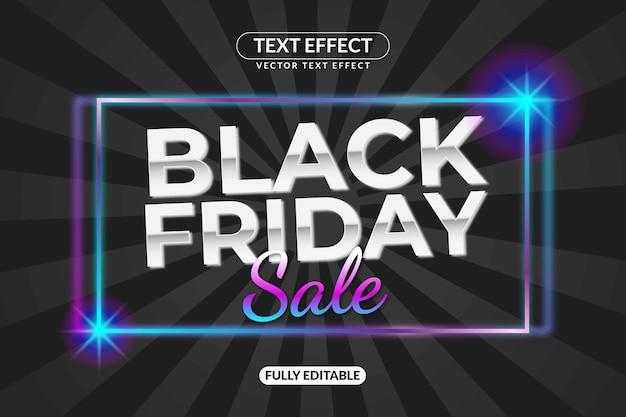 Bearbeitbarer black friday text effect glow style für werbung, social media branding, titel und vieles mehr